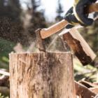 Un bois sec se fend naturellement